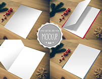 Greeting Card Mockup - Photoshop PSD Template