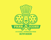 100 FREE ICONS / KITCHEN