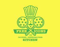 100 FREE ICONS / KITCHEN