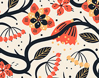 Vector set of abstract and stylised patterns