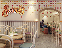 "Design of ""Sweet"" pastry shop in Budapest"