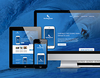 Landing Page for SurfingZone - FREE PSD