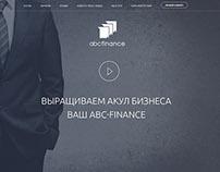 ABC Finance landing page