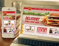 Adaptive redesign of McDonald's website