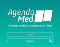 Interface de sistema web - Pesquisa de serviços médicos