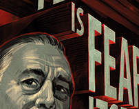Franklin D. Roosevelt portrait poster for Taxi Studio.