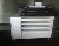 Plotter Stand Cabinet