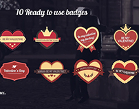 [After Effects Template] Valentine's Day Badges Package