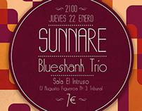 Sunnare&Blueskank Trio Poster