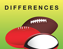 Rugby, Australian Rules, American Football Differences