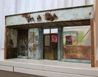 Miniature Cuban scene WIP