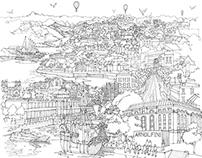 Bristol Cityscape Mural
