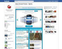 Applications Facebook Sony Ericsson