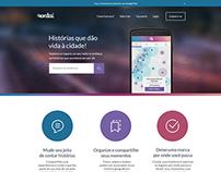 Landing page do aplicativo Contaí
