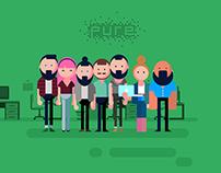 Pure New Media Team Illustratiıon