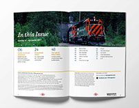 Trains & Railroads of the Past: Magazine Redesign