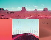 Calendário 2014 - Deserto
