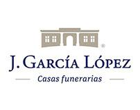 J. García López funeral homes corporate brand redesign
