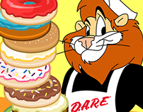 "Art Direction/Design ""Daren's Donuts"" App"