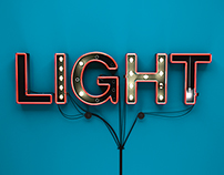 3D Light Typography