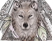 Wolf Drawing