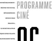 Programme de cinéma - monochrome