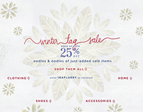 Anthropologie Winter Tag Sale