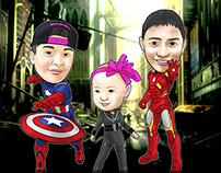 Avengers Theme Caricature