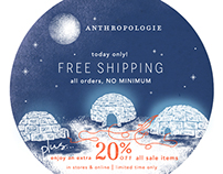 Anthropologie Cyber Monday Promo