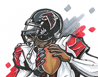 Mike Vick Illustration