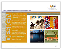 Self Promotion PDF: Wisner Design