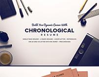 The Chronological Resume CV Full Set