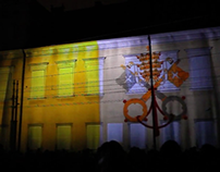 Projection Mapping Canonisation of Pope John Paul II