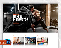Free Personal Trainer Web Design PSD Template