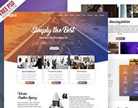Creative Agency Website Template PSD