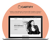 Cartify - eCommerce Web Template UI Design - Homepage