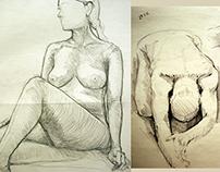 Sketches (life drawing, still life, studies)