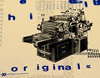 Typographic Poster // Heidelberg Press