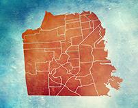 San Francisco Neighborhood Map // Illustration