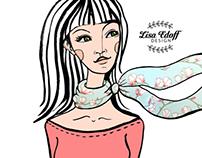 """Silk scarves"" for Lisa Edoff Design"