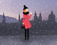 """Salzburg"" illustrations for Gurmet magazine 12/2014"