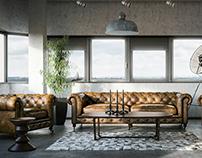 Amsterdam Loft Big space | CGI