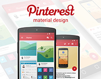 Pinterest for Lollipop - Material Design Concept App