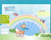 Children's clothing website layout design