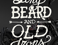 Barbers Crew Long Beard and Old Irons Poster & TShirt