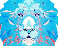Lion Riso Print