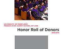 2013-2014 Honor Roll of Donors