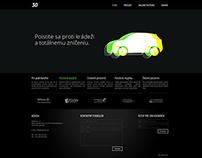 Dizajn webovej stránky 3D objekty
