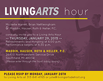 Living Arts Hour Invitation