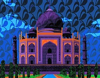 Color Investigation- Taj Mahal